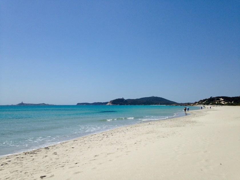 Beach of Simius Sardinia