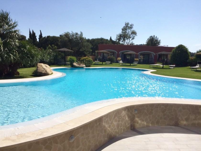 Great pool in the Hotel Mariposas Sardinia