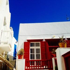 Pittoreskes Mykonos-Stadt