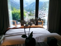 Bedroom with a view of the Matterhorn