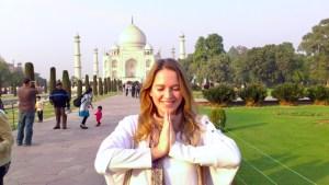 Taj Mahal in Indien im Layover