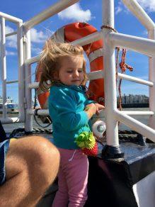 Harbor tour with children