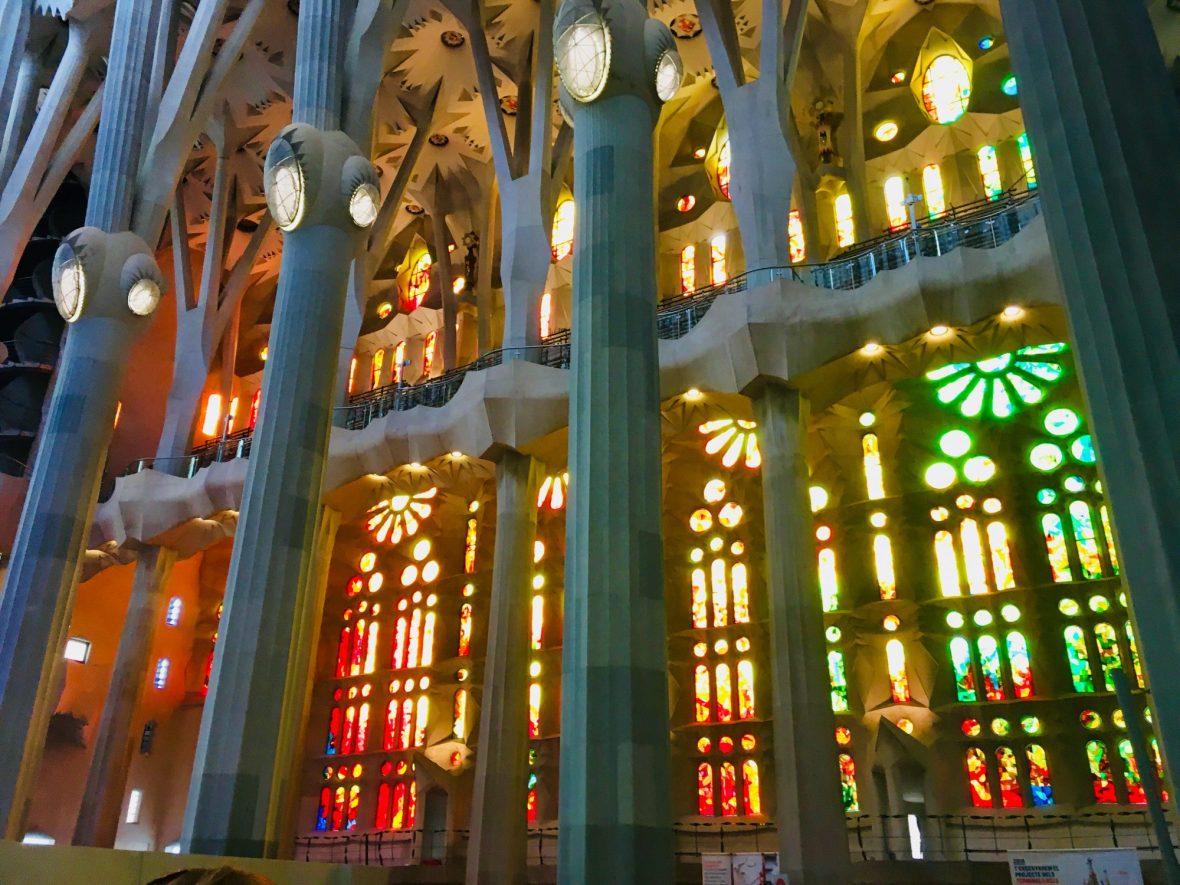 Magisches Lichterspiel in der Sagrada Familia