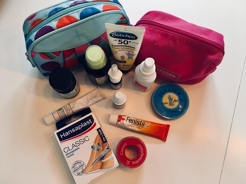 What must go into the first aid kit