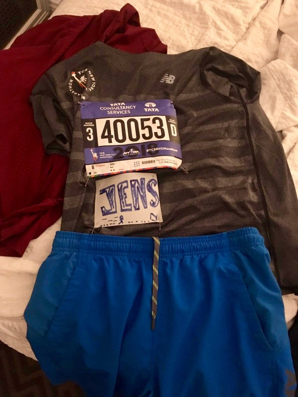 Starting number and name to cheer NYC marathon