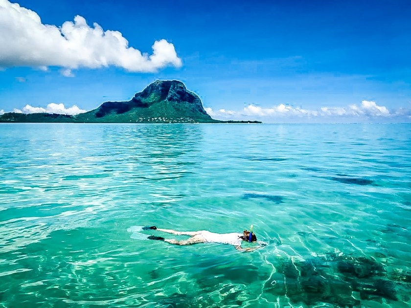 Snorkeling at Le Morne