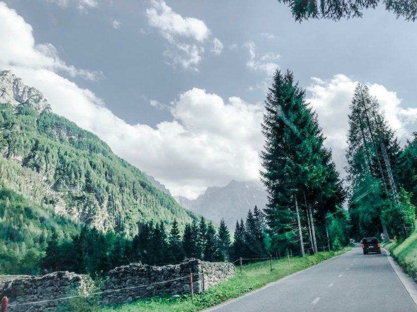Einfahrt in den Triglav NP