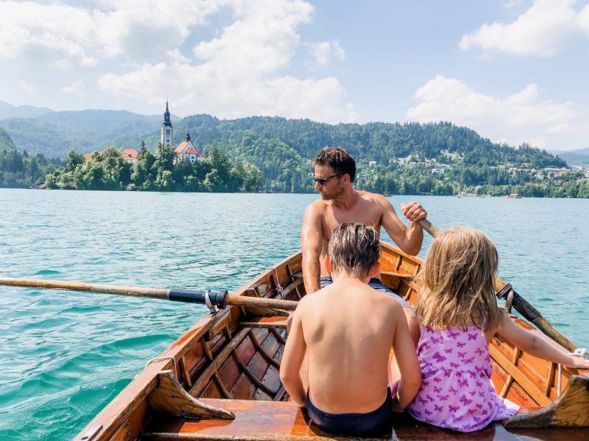 Rudern zur Insel Bled