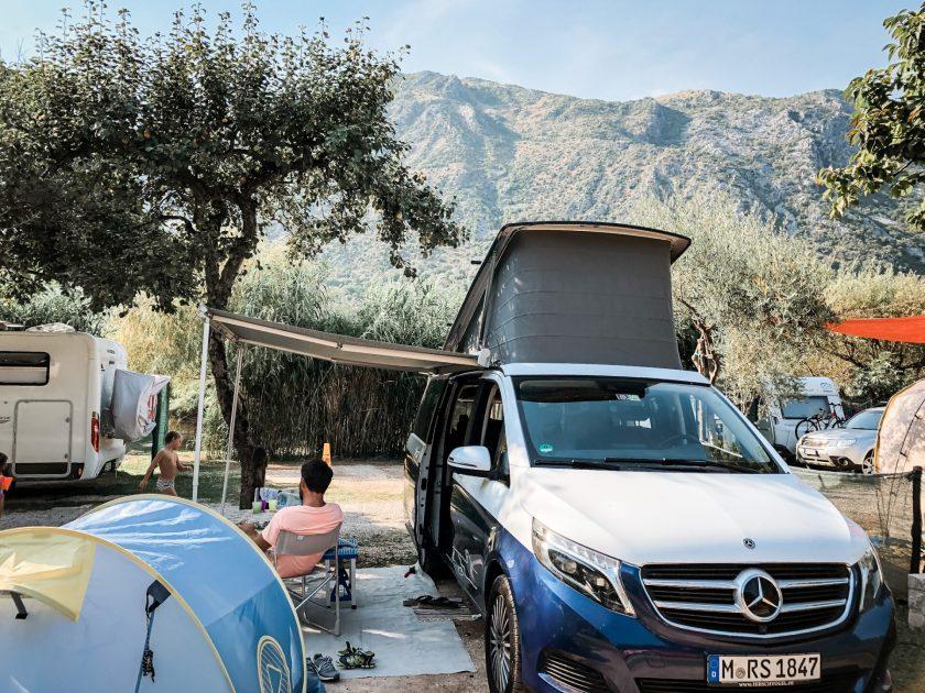 Unser Stellplatz Camp Naluka Montenegro