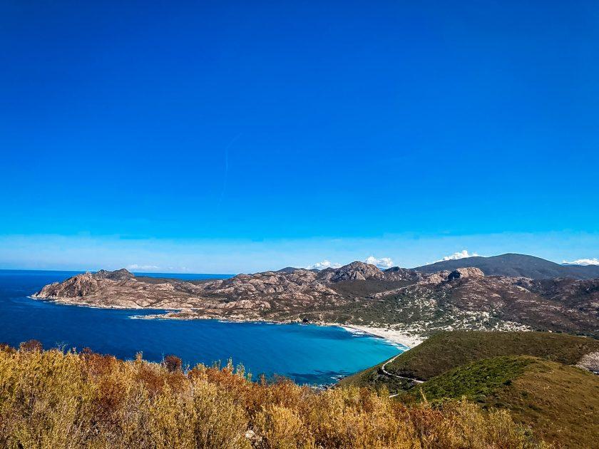 Bucht von Ostriconi von oben