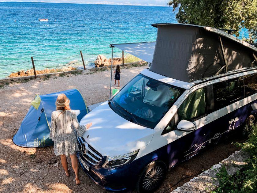 Stellplatz am Meer mit dem Campervan