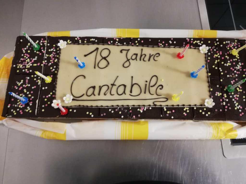 Die Geburtstagstorte - Ein Geschenk der Bäckerei Nussbaumer