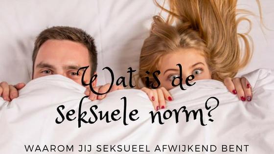 Wat is de seksuele norm voor