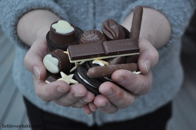Chocolade druiptaart