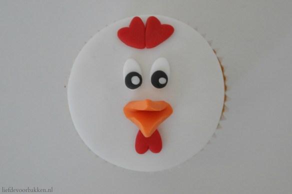Boerderijcupcakes: de kip, de kuiken en het varkentje