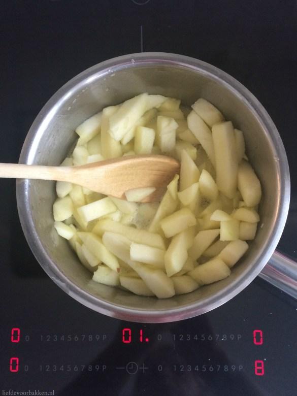 Appelcake met appelfrietjes