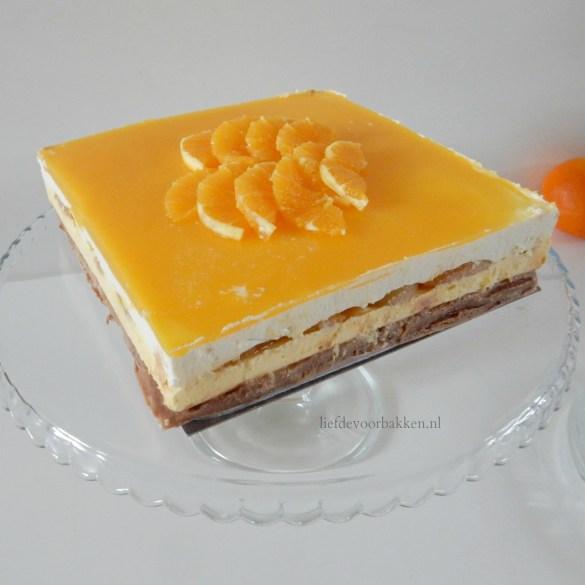 Abrikozen-mascarpone taart met sinaasappel