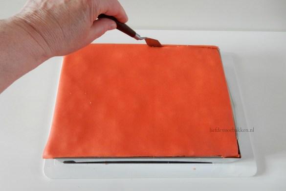Oranje gebakjes met mandarijn