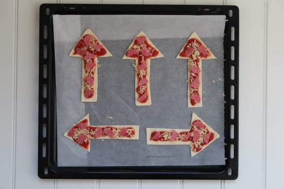 Pizza vuurwerk hapjes