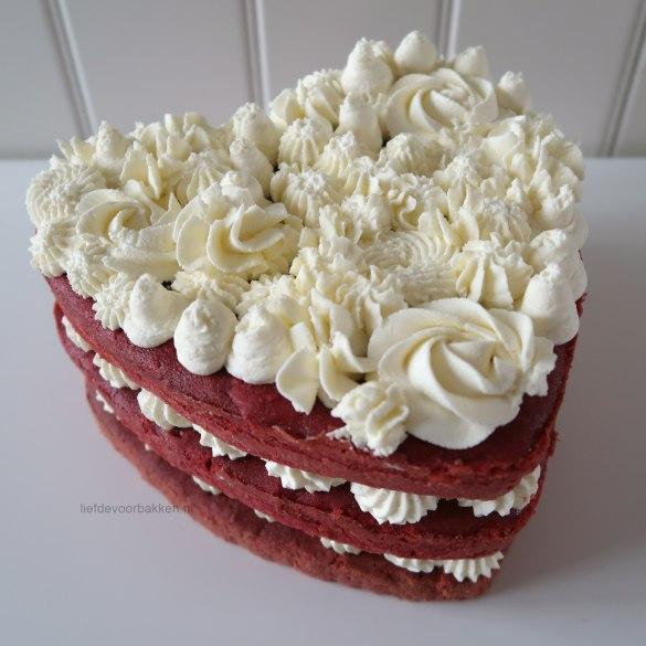 Naked cake voor Valentijnsdag