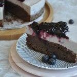 Bosbessen brownie taart