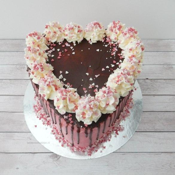 Hartentaart voor Valentijn