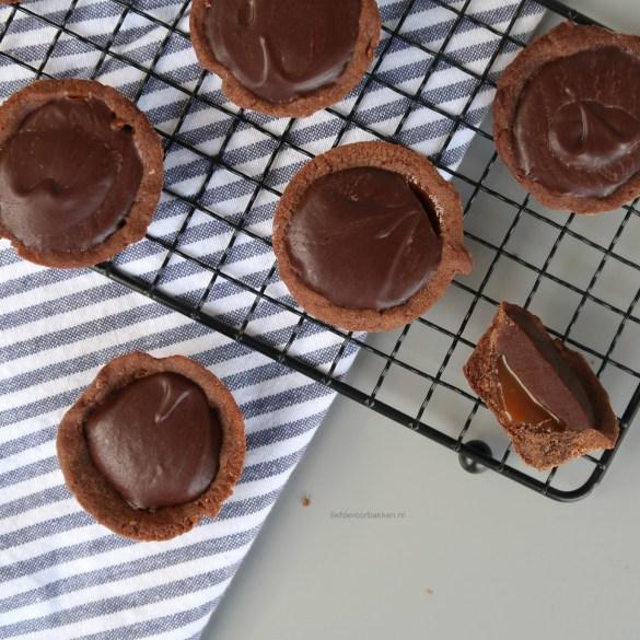 Chocolade karamel cupjes