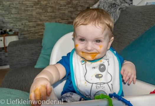 Jayden 7 maanden en 2 weken oud potjes babyvoeding biologisch