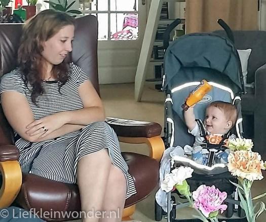 Jayden 7 maanden oud op visite