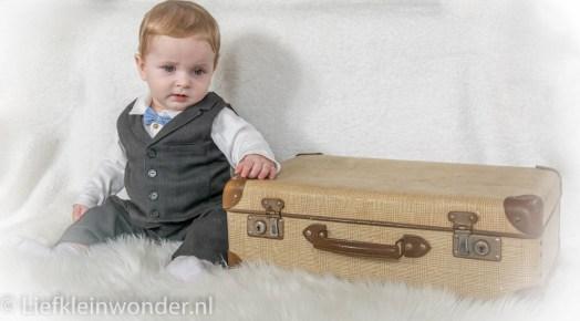 Little big man mini fotoshoot baby pantalon colbert vlinderdas