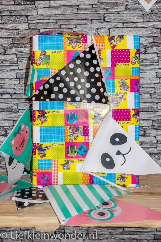 Shoplog wibra babykleding verjaardags vlaggetjes