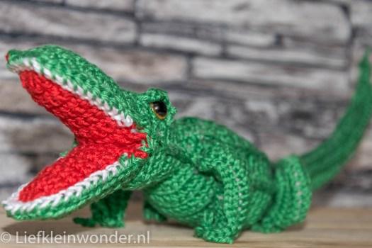 gehaakte krokodil