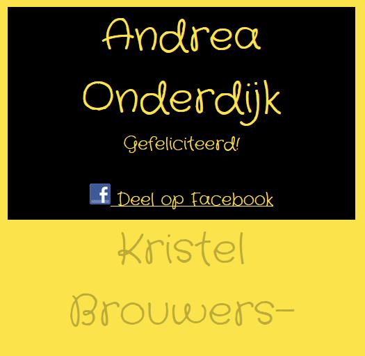 Winnaar Andrea! winactie hangmat hangstoel