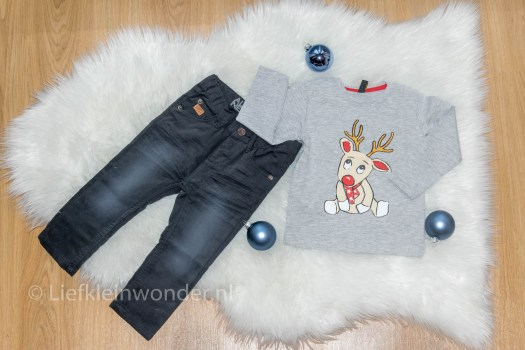 Baby kerst outfit rendier