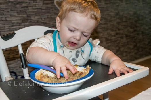 13 maanden en 1 week oud - Bruine bonen met gehakt en aardappels