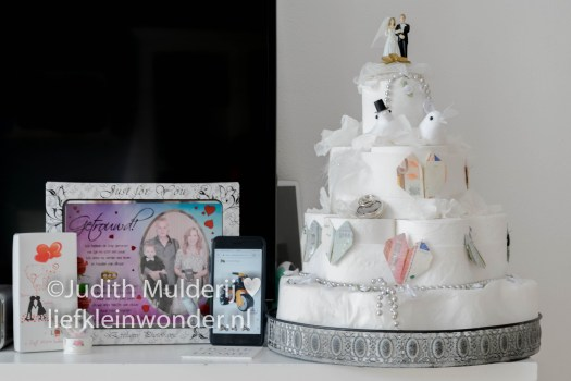 Jayden 17 maanden en 2 weken oud - bruidstaart huwelijkfeest cadeaus