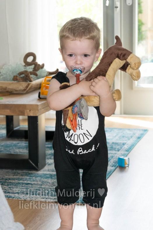 Jayden 18 maanden en 3 weken oud peuter dreumes - Knuffels knuffelen