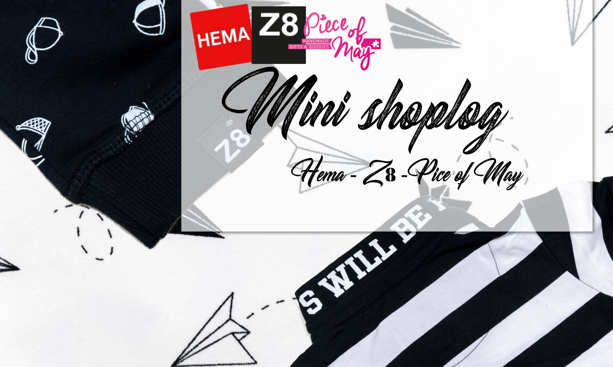 Mini shoplog babykleding z8 hema en piece of may - zwart wit jongens kleding stoer