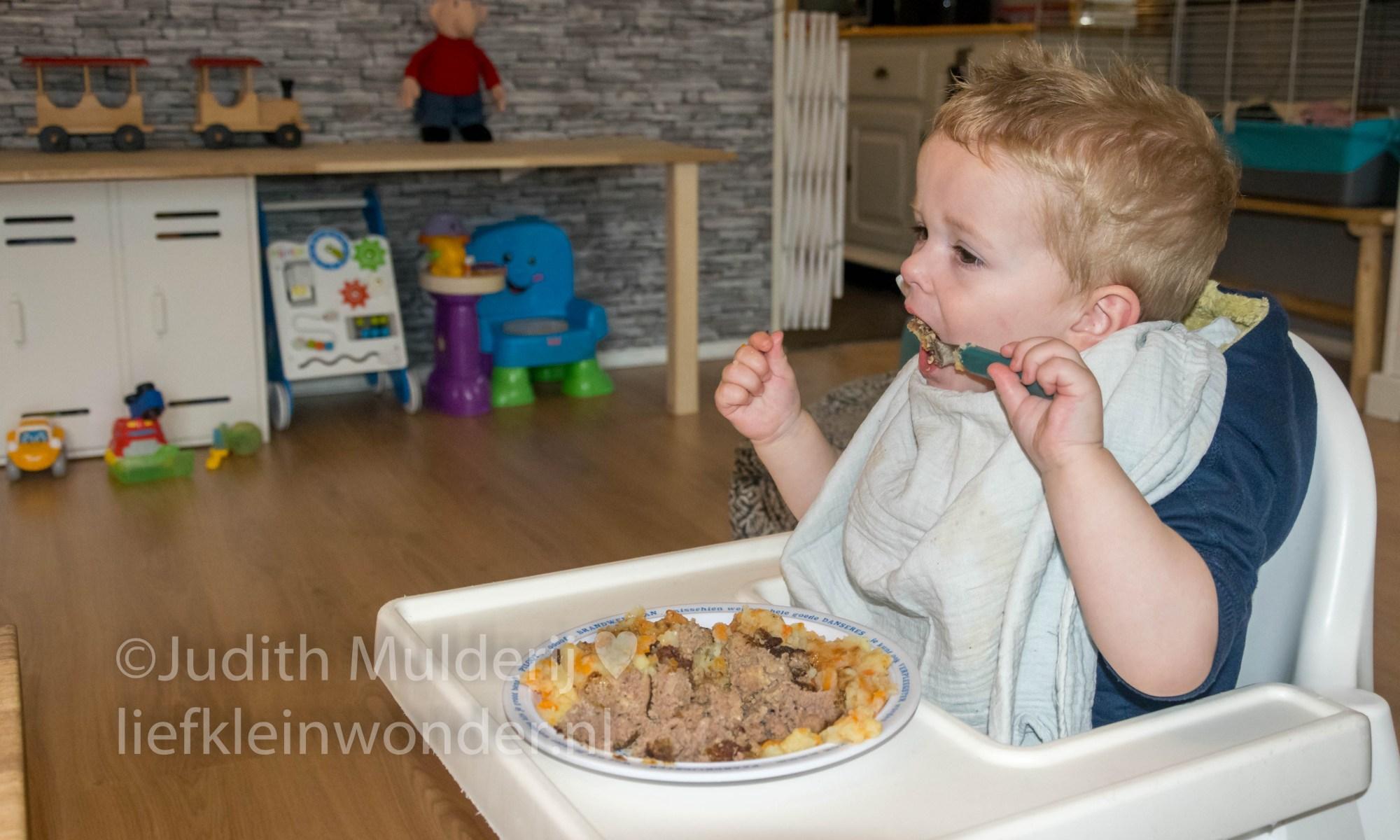 Jayden 21 maanden en 2 weken oud mama blog peuter dreumes - peen en uien stamppot