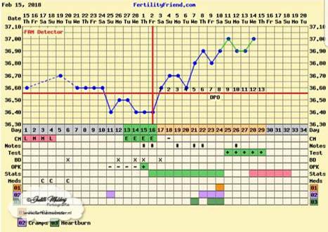 Zwanger in de eerste ronde met clomid 50mg temperatuur kaartje ovulatie test zwangerschapstest 9dpo 10dpo 11dpo 12dpo 13dpo