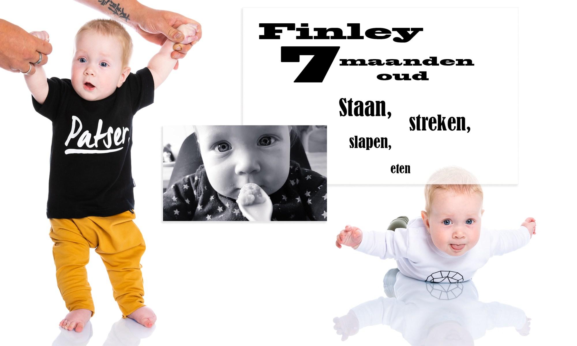 7 maanden oud hapjes slapen borstvoeding ontwikkeling staan met hulp baby broertje mama blog www.liefkleinwonder.nl