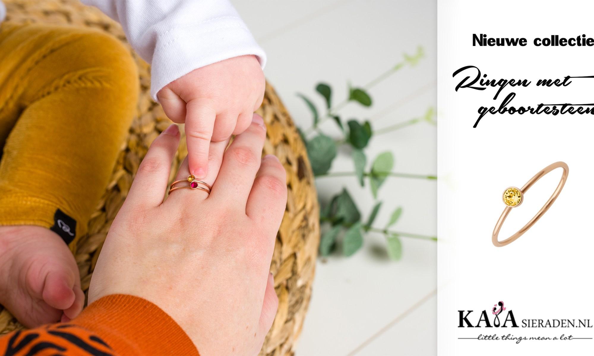 Kaya sieraden ringen met geboortesteen zilver goud rose review mama blog www.liefkleinwonder.nl