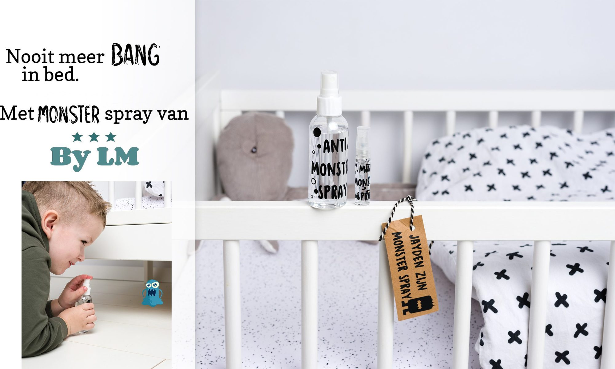 Monsterspray peuter monsters bang donker bed mama blog by LM bylm www.liefkleinwonder.nl