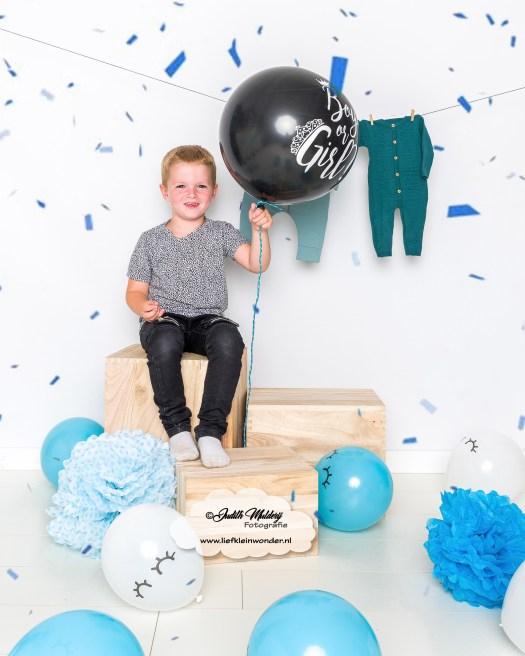 Gender reveal jongen derde jongen kindje zwanger mama blog