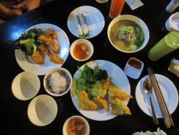 Een van onze Vietnamese maaltijden <3