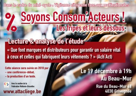 Affiche Soyons Consom'Acteurs