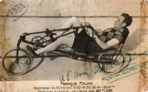 Francis Faure an Liegerad