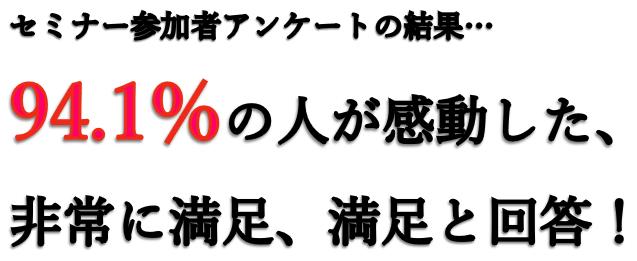 94.1%の参加者が満足と回答