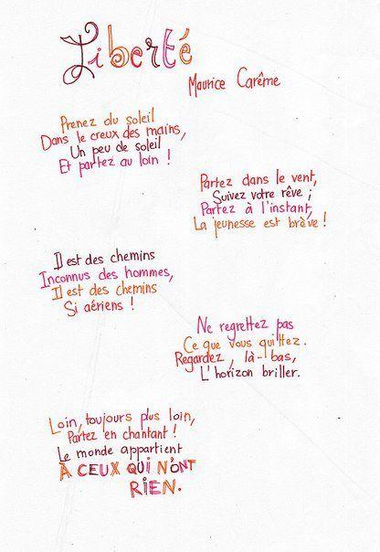 Liberté Paul Eluard Cycle 3 : liberté, eluard, cycle, LIBERTÉ, MAURICE, CARÊME, Liendirect