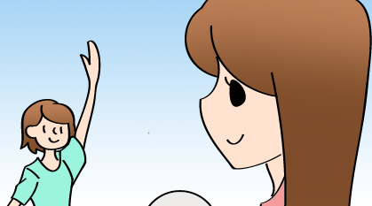 キャッチボールをします!